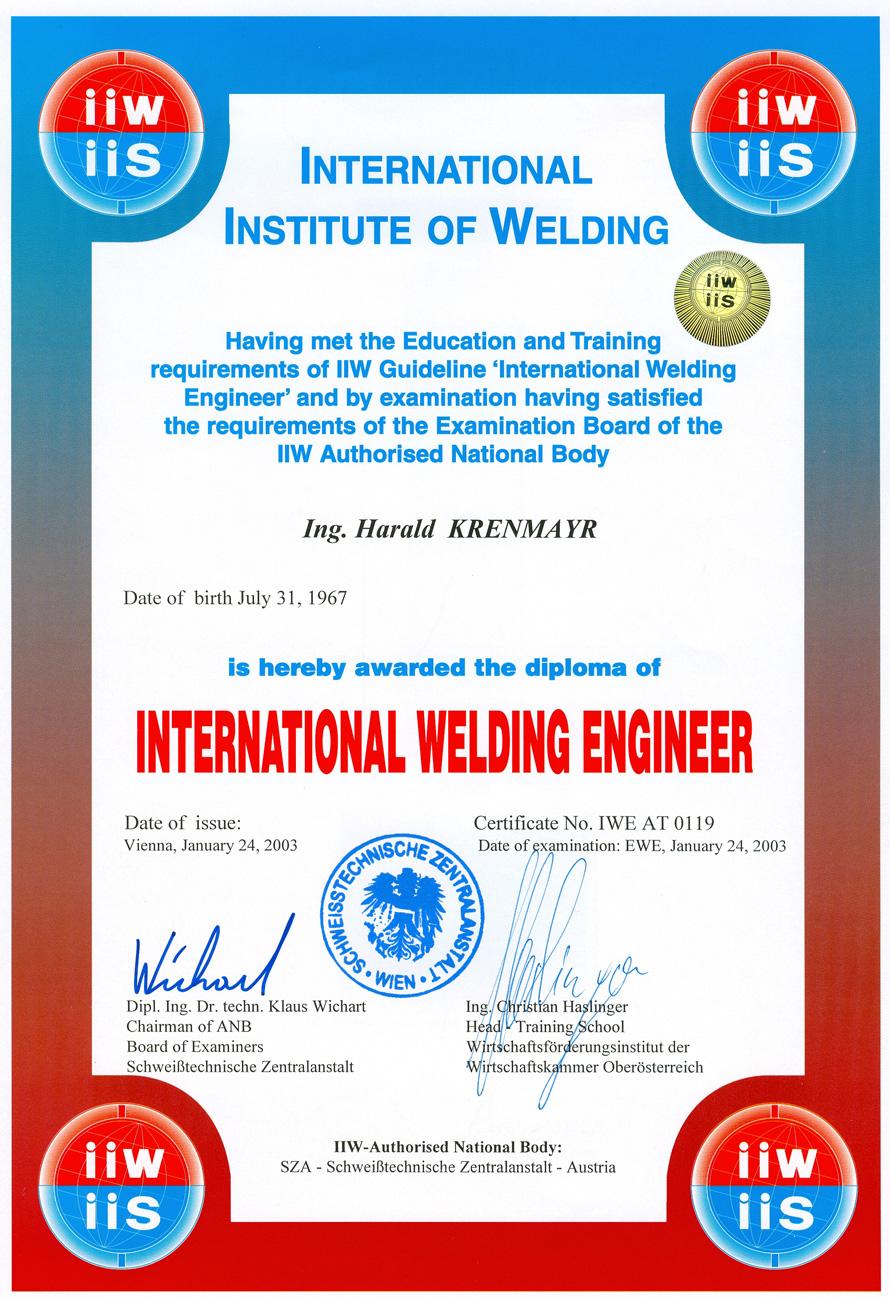 International Welding Engeneer